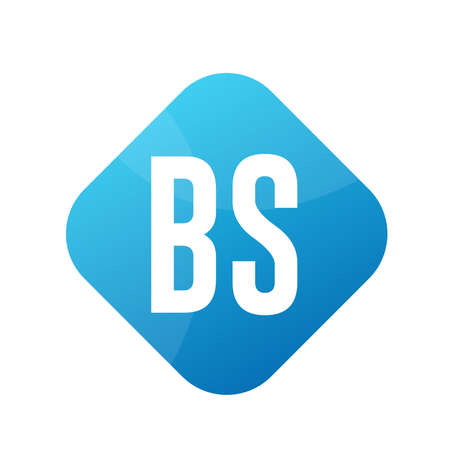 BS Letter Logo Design With Simple style Ilustrace