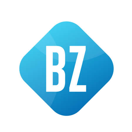 BZ Letter Logo Design With Simple style