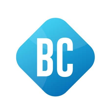 BC Letter Logo Design With Simple style