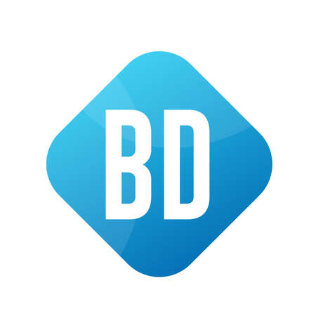 BD Letter Logo Design With Simple style