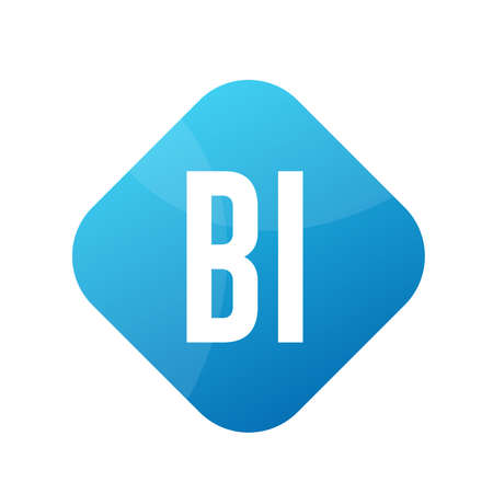 BI Letter Logo Design With Simple style