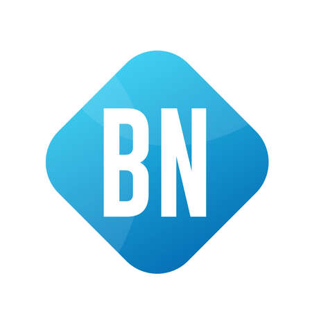 BN Letter Logo Design With Simple style