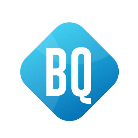 BQ Letter Logo Design With Simple style