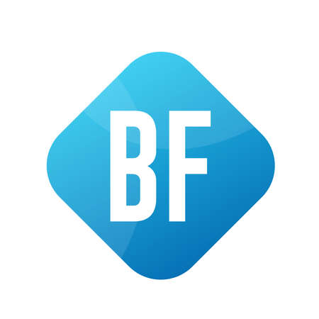 BF Letter Logo Design With Simple style