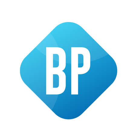 BP Letter Logo Design With Simple style
