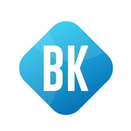 BK Letter Logo Design With Simple style