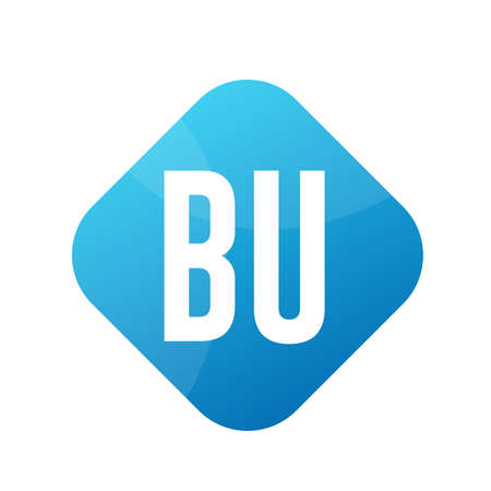 BU Letter Logo Design With Simple style Ilustrace