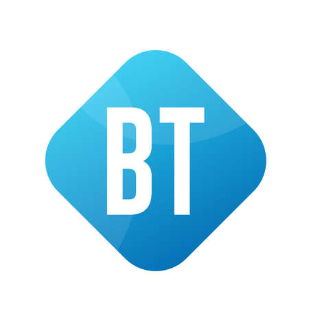 BT Letter Logo Design With Simple style Ilustrace