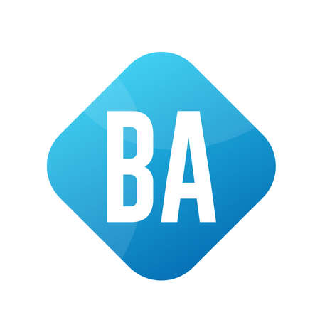 BA Letter Logo Design With Simple style