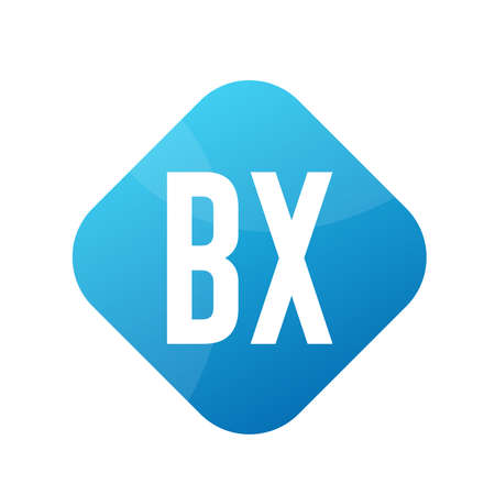 BX Letter Logo Design With Simple style Ilustrace