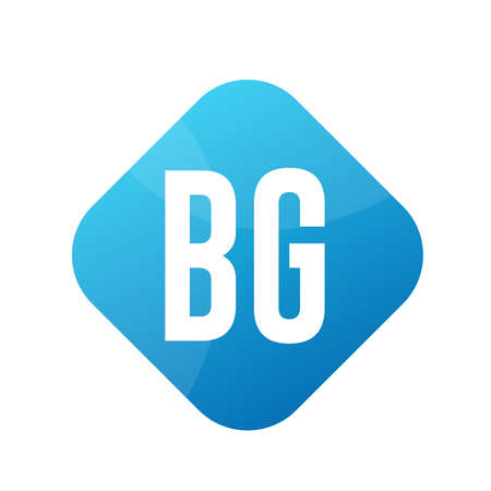 BG Letter Logo Design With Simple style Ilustrace