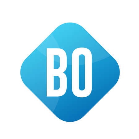 BO Letter Logo Design With Simple style