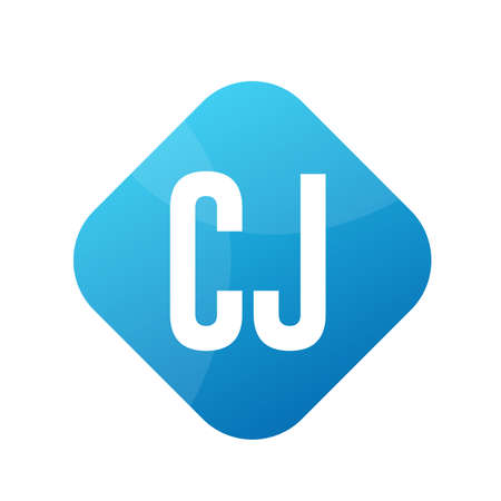 CJ Letter Logo Design With Simple style Ilustrace