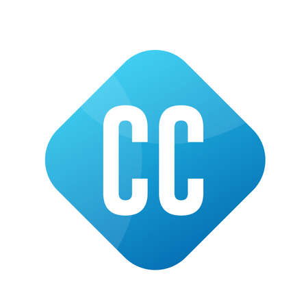 CC Letter Logo Design With Simple style