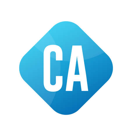 CA Letter Logo Design With Simple style