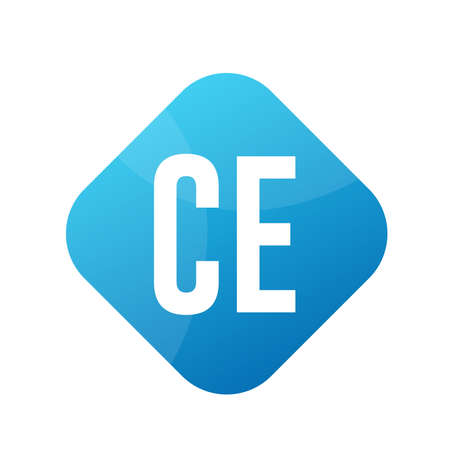 CE Letter Logo Design With Simple style