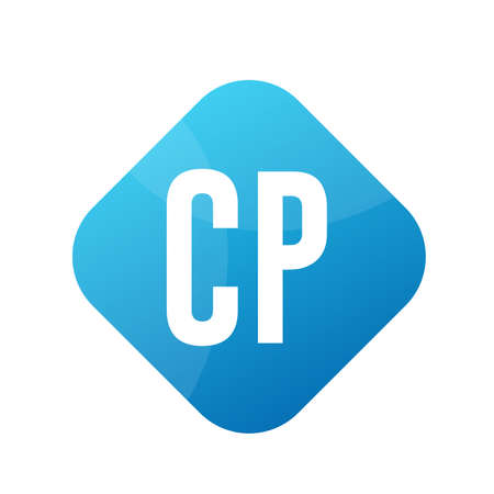 CP Letter Logo Design With Simple style