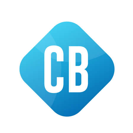 CB Letter Logo Design With Simple style Ilustrace