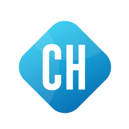 CH Letter Logo Design With Simple style