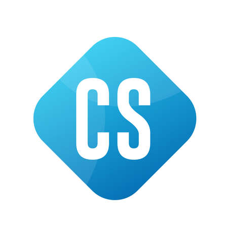 CS Letter Logo Design With Simple style
