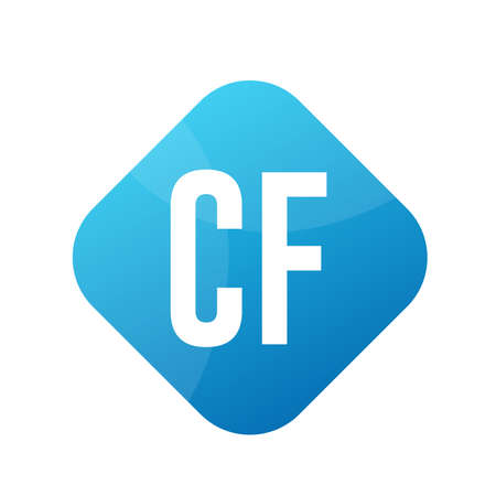 CF Letter Logo Design With Simple style
