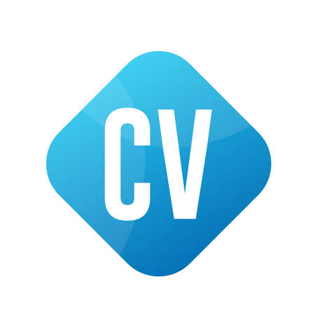 CV Letter Logo Design With Simple style