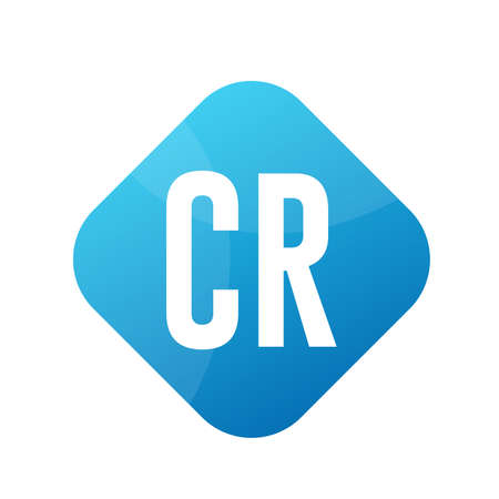 CR Letter Logo Design With Simple style Ilustrace