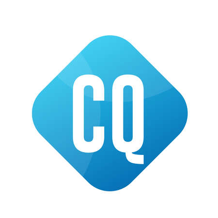 CQ Letter Logo Design With Simple style