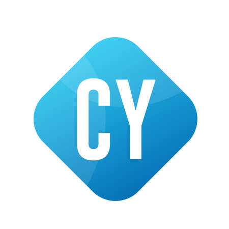 CY Letter Logo Design With Simple style