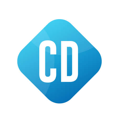 CD Letter Logo Design With Simple style