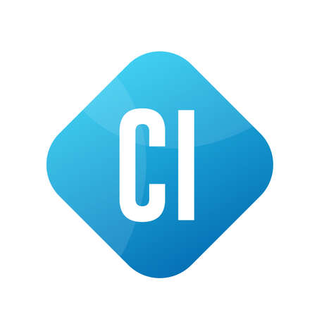 CI Letter Logo Design With Simple style Ilustrace