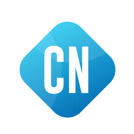 CN Letter Logo Design With Simple style
