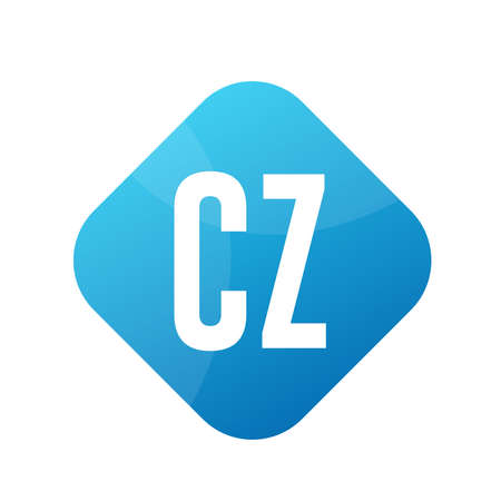 CZ Letter Logo Design With Simple style