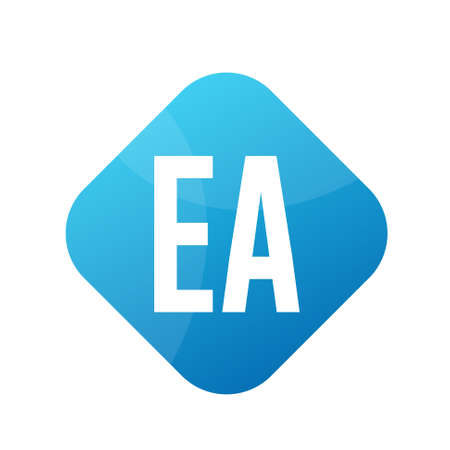EA Letter Logo Design With Simple style Ilustrace