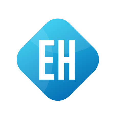 EH Letter Logo Design With Simple style