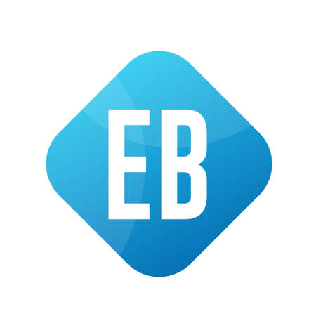 EB Letter Logo Design With Simple style Ilustrace