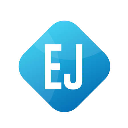EJ Letter Logo Design With Simple style Ilustrace