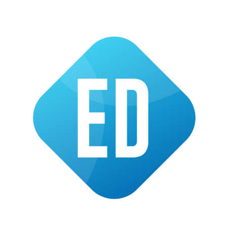 ED Letter Logo Design With Simple style