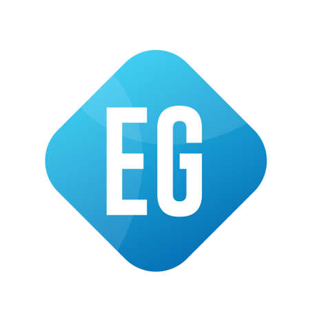 EG Letter Logo Design With Simple style