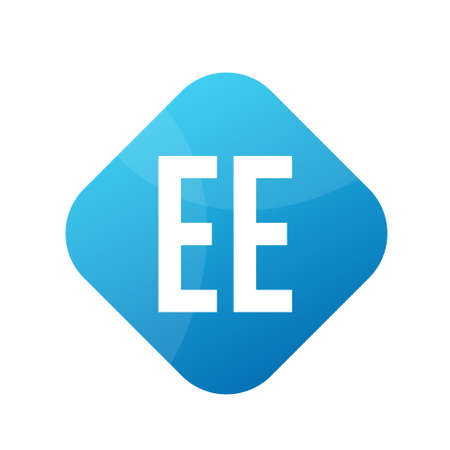 EE Letter Logo Design With Simple style Ilustrace