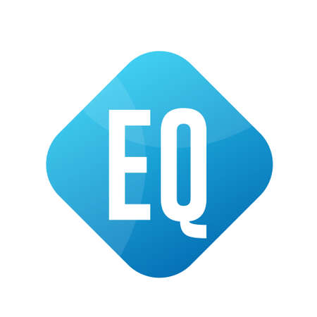 EQ Letter Logo Design With Simple style Ilustrace