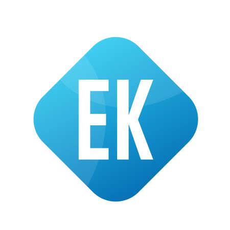 EK Letter Logo Design With Simple style Ilustrace
