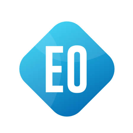 EO Letter Logo Design With Simple style