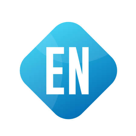 EN Letter Logo Design With Simple style