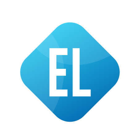 EL Letter Logo Design With Simple style