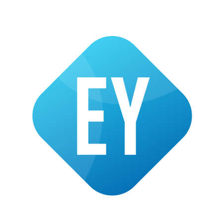 EY Letter Logo Design With Simple style Ilustrace