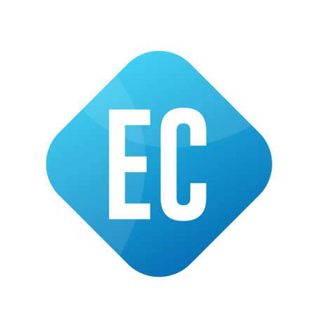 EC Letter Logo Design With Simple style