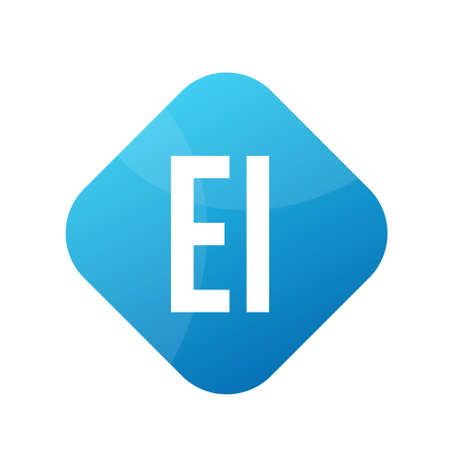 EI Letter Logo Design With Simple style