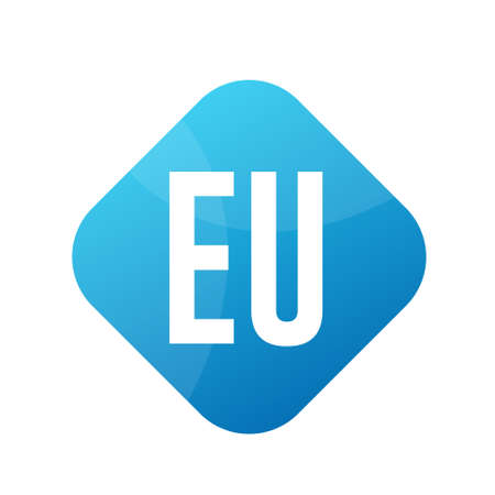 EU Letter Logo Design With Simple style