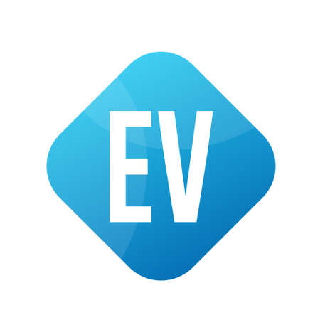 EV Letter Logo Design With Simple style